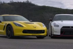 (Video) 2015 Chevrolet Corvette Z06 vs. 2015 Nissan GT-R Nismo! – Head 2 Head